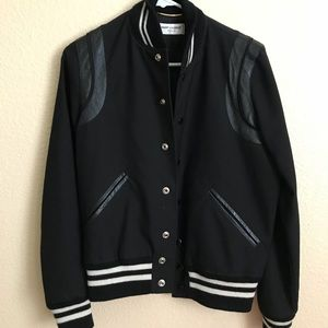 3c3da3cb594 ... Saint Laurent Teddy Varsity Jacket ...